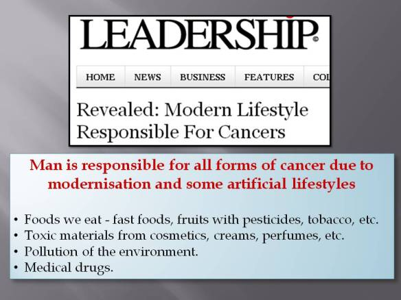 9 e Modern lifestyle cause cancer
