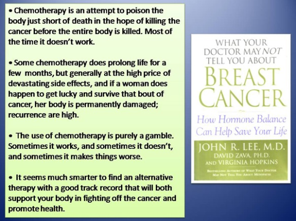 3 Chemo attempt to kill cancer before killing patient JohnLee