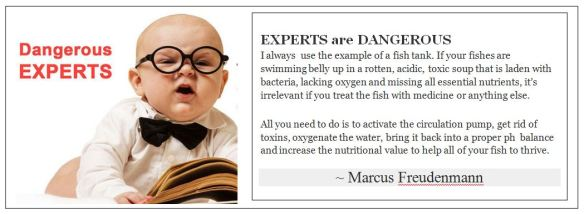 Experts are dangerous Marcus