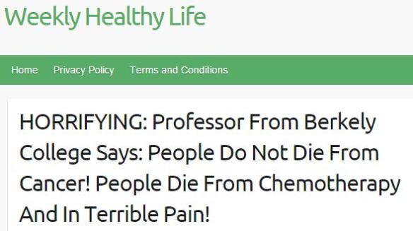 People die from chemo